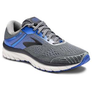 Brooks Men's Adrenaline Gts 18 2E Running Shoes, Grey, Wide - Black