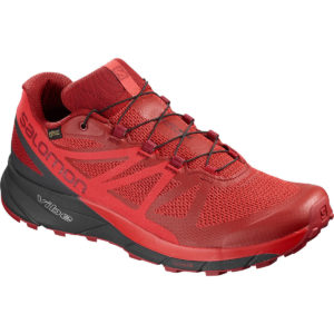 Salomon Men's Sense Ride Gtx Invisible Fit Waterproof Trail Running Shoes - Red - Size 10
