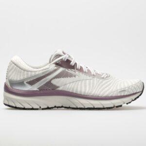 Brooks Adrenaline GTS 18: Brooks Women's Running Shoes White/Purple/Grey