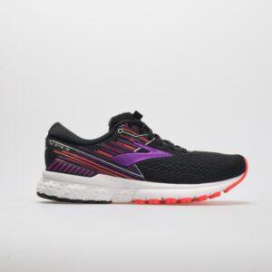 Brooks Adrenaline GTS 19: Brooks Women's Running Shoes Black/Purple/Coral