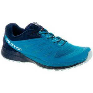 Salomon Sense Pro 2: Salomon Women's Trail Running Shoes Enamel Blue/Navy Blazer/Eggshell Blue
