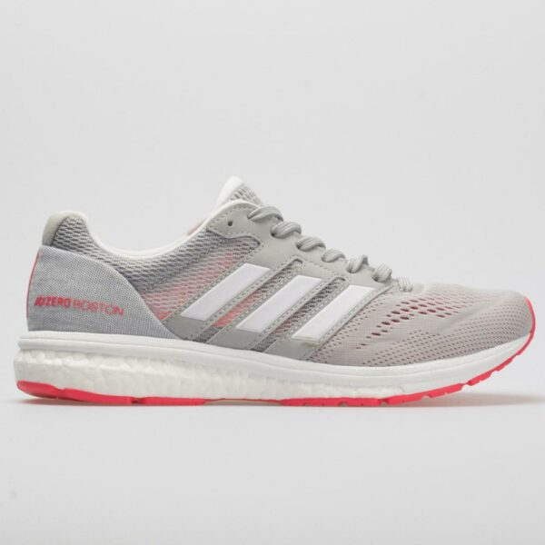 adidas adizero Boston 7: adidas Women's Running Shoes Grey/White/Shock Red
