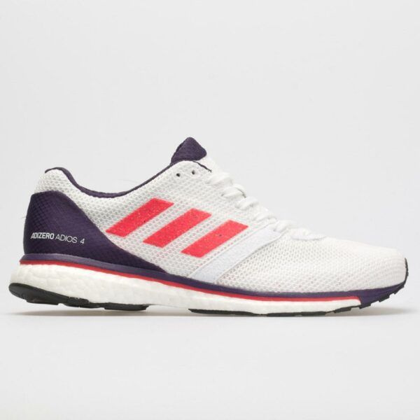 adidas adizero adios 4: adidas Women's Running Shoes White/Shock Red/Legend Purple