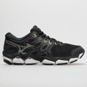 Mizuno Wave Horizon 3: Mizuno Women's Running Shoes Black/ Metallic Shadow