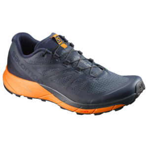 Salomon Men's Sense Ride Trail Running Shoes, Navy Blazer/marigold - Blue - Size 14