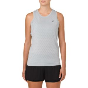 ASICS GEL-Cool Sleeveless Top Women's Running Apparel Mid Grey, Size Medium