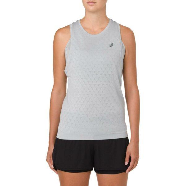 ASICS GEL-Cool Sleeveless Top Women's Running Apparel Mid Grey, Size Medium