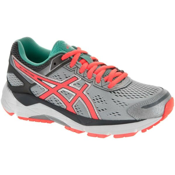 ASICS GEL-Fortitude 7 Women's Running Shoes Silver/Fiery Coral/Aqua Mint Size 6 Width D - Wide