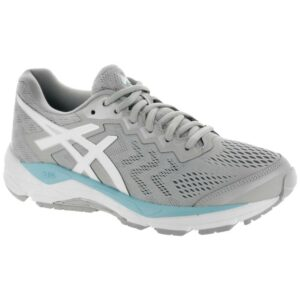 ASICS GEL-Fortitude 8 Women's Running Shoes Mid Grey/White/Porcelain Blue Size 7.5 Width B - Medium