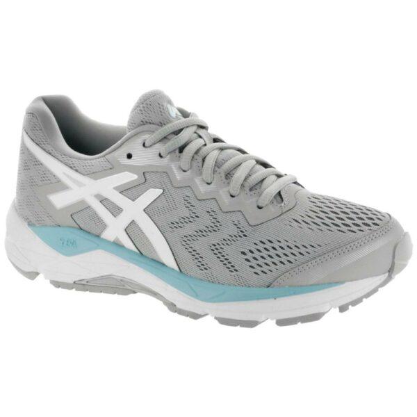 ASICS GEL-Fortitude 8 Women's Running Shoes Mid Grey/White/Porcelain Blue Size 7.5 Width B - Medium