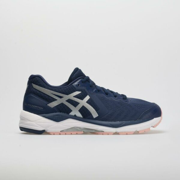 ASICS GEL-Foundation 13 Women's Running Shoes Indigo Blue/Silver/Seashell Pink Size 8.5 Width D - Wide