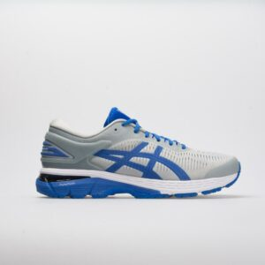 ASICS GEL-Kayano 25 Lite-Show Men's Running Shoes Mid Grey/Illusion Blue Size 10 Width D - Medium