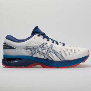 ASICS GEL-Kayano 25 Men's Running Shoes White/Blue Print Size 9.5 Width D - Medium