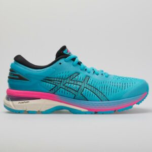 ASICS GEL-Kayano 25 Women's Running Shoes Aquarium/Black Size 10.5 Width B - Medium