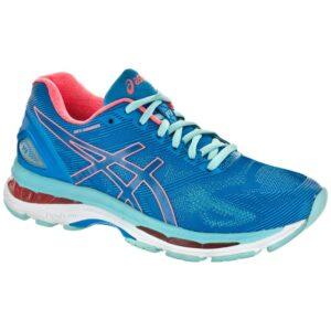 ASICS GEL-Nimbus 19 Women's Running Shoes Diva Blue/Flash Coral/Aqua Splash Size 6 Width D - Wide