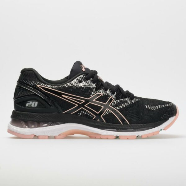 ASICS GEL-Nimbus 20 Women's Running Shoes Black/Frosted Rose Size 10 Width B - Medium