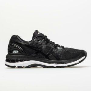 ASICS GEL-Nimbus 20 Women's Running Shoes Black/White/Carbon Size 6 Width B - Medium