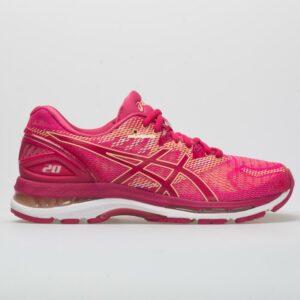 ASICS GEL-Nimbus 20 Women's Running Shoes Bright Rose/Apricot Size 8 Width B - Medium