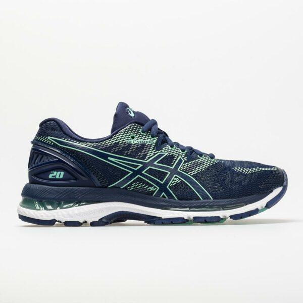 ASICS GEL-Nimbus 20 Women's Running Shoes Indigo Blue/Indigo Blue/Opal Green Size 9.5 Width B - Medium