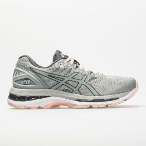 ASICS GEL-Nimbus 20 Women's Running Shoes Mid Grey/Mid Grey/Seashell Size 10.5 Width B - Medium