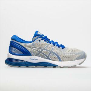 ASICS GEL-Nimbus 21 Lite-Show Women's Running Shoes Mid Grey/Illusion Blue Size 7.5 Width B - Medium