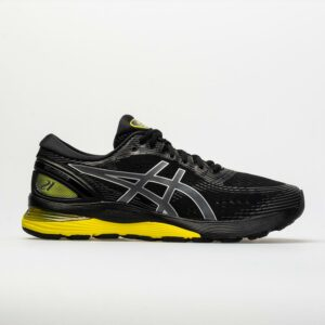 ASICS GEL-Nimbus 21 Men's Running Shoes Black/Neon Spark Size 7.5 Width EE - Wide