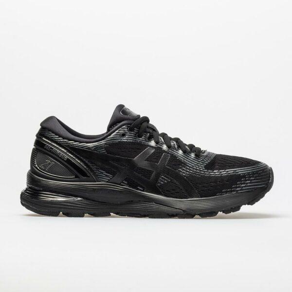 ASICS GEL-Nimbus 21 Women's Running Shoes Black/Black Size 10 Width B - Medium
