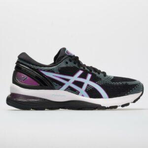 ASICS GEL-Nimbus 21 Women's Running Shoes Black/Skylight Size 5.5 Width B - Medium