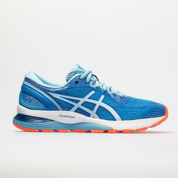 ASICS GEL-Nimbus 21 Women's Running Shoes Blue Coast/Skylight Size 7.5 Width D - Wide