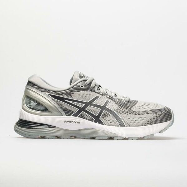 ASICS GEL-Nimbus 21 Women's Running Shoes Mid Grey/Silver Size 9.5 Width D - Wide