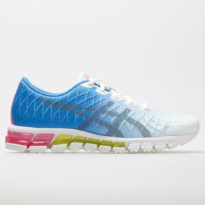 ASICS GEL-Quantum 180 4 Women's Running Shoes White/Stone Grey Size 9 Width B - Medium