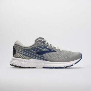 Brooks Adrenaline GTS 19 Men's Running Shoes Gray/Blue/Ebony Size 12 Width 4E - Extra Wide