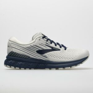 Brooks Adrenaline GTS 19 Men's Running Shoes White/Grey/Navy Size 10 Width D - Medium