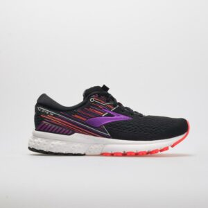Brooks Adrenaline GTS 19 Women's Running Shoes Black/Purple/Coral Size 10.5 Width D - Wide