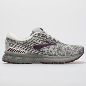 Brooks Adrenaline GTS 19 Women's Running Shoes Gray/White/Fig Size 9.5 Width B - Medium