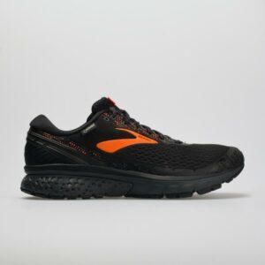 Brooks Ghost 11 GTX Men's Running Shoes Black/Orange/Ebony Size 12 Width D - Medium