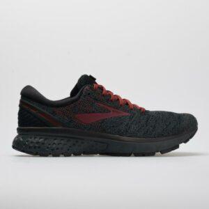 Brooks Ghost 11 Men's Running Shoes Black/White/Merlot Size 8 Width D - Medium