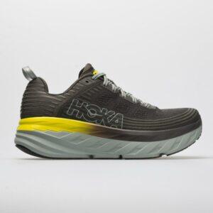 Hoka One One Bondi 6 Men's Running Shoes Black Olive/Pavement Size 12.5 Width D - Medium