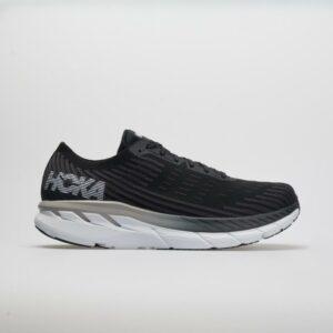 Hoka One One Clifton 5 Knit Men's Running Shoes Black/White Size 11.5 Width D - Medium