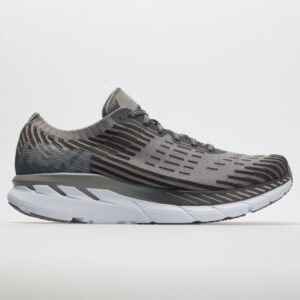 Hoka One One Clifton 5 Knit Men's Running Shoes Frost Gray/Pavement Size 9.5 Width D - Medium