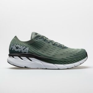 Hoka One One Clifton 5 Knit Men's Running Shoes Silver Pine/Chinois Green Size 8.5 Width D - Medium
