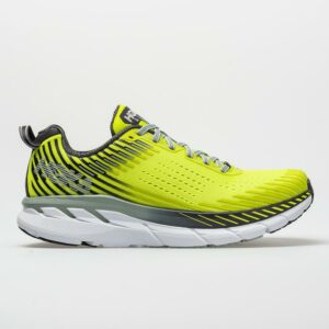 Hoka One One Clifton 5 Men's Running Shoes Evening Primrose/Nine Iron Size 8.5 Width D - Medium
