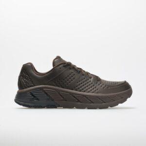 Hoka One One Gaviota Leather Men's Walking Shoes Demitasse/Black Size 10 Width D - Medium