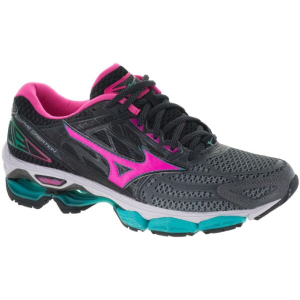 Mizuno Wave Creation 19 Women's Running Shoes Castlerock/Pink Glo/Black Size 6.5 Width B - Medium