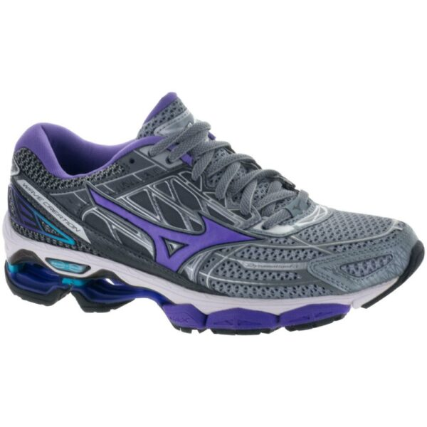 Mizuno Wave Creation 19 Women's Running Shoes Monument/Passion Flower Size 7 Width B - Medium