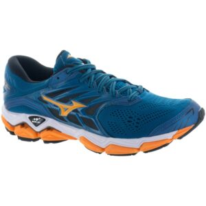 Mizuno Wave Horizon 2 Men's Running Shoes Blue Sapphire/Bright Marigold Size 8.5 Width D - Medium