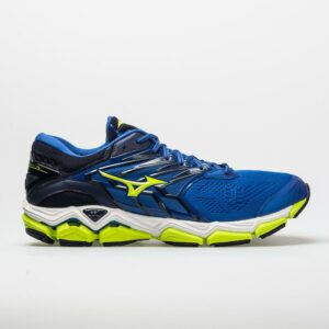 Mizuno Wave Horizon 2 Men's Running Shoes Surf The Web/Lime Punch Size 8.5 Width D - Medium