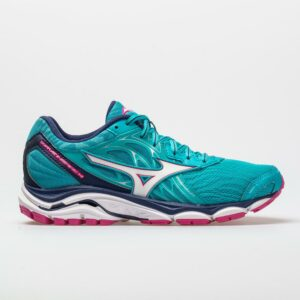 Mizuno Wave Inspire 14 Women's Running Shoes Peacock Blue/Fuchsia Purple Size 7 Width B - Medium