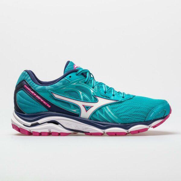 Mizuno Wave Inspire 14 Women's Running Shoes Peacock Blue/Fuchsia Purple Size 7 Width B - Medium