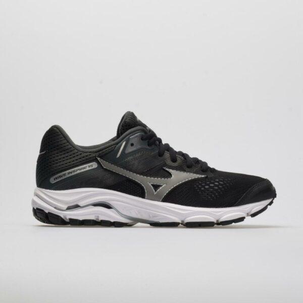 Mizuno Wave Inspire 15 Women's Running Shoes Black/Dark Shadow Size 11 Width D - Wide